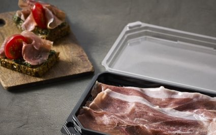 Shallow tray for prosciutto with lid - Plus Pack