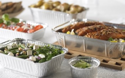 Classic standard aluminium containers for buffet serving - Plus Pack