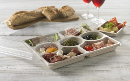 Partitioned tray containing various tapas - Plus Pack