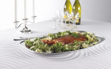 Aluminium platter of food on the dinner table - Plus Pack