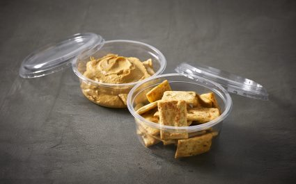 Snack pots of crackers and dip - Plus Pack