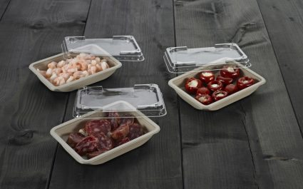 Rectangular trays with lids containing tapas - Plus Pack