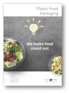 overview of plastic food packaging assortment