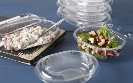 Individual portion pot with lid with salad - Plus Pack
