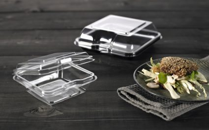Hinged square container for sandwich - Plus Pack