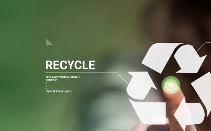 Circular economy - recycling awareness - recycle - reuse