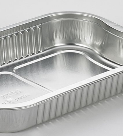 materials: aluminium ready-to-cook container with handles - convenient food packaging - Plus Pack