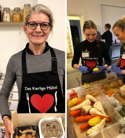 det kærlige måltid, charitable food packaging