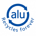 Aluminium recycles forever icon - alu recycles forever