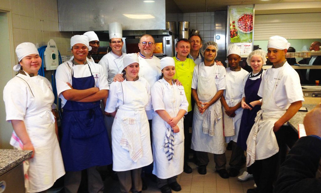 Chefs from La Tablée de Chefs - supported by Plus Pack